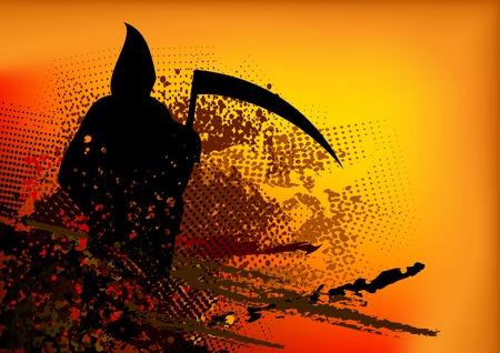 reaper: dunkle Silhouette of black reaper