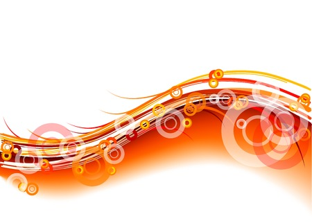 red wavy background on white Stock Vector - 7978113