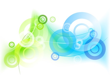 mistic: green and blue mistic background Illustration