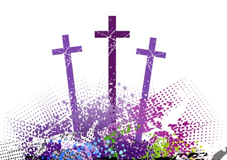 three cross on the color hill