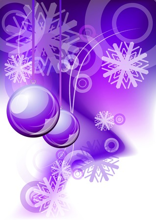 christmas abstract background in purple color Vector