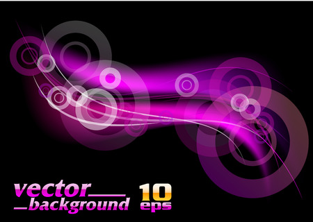 lila: purple abstract on the black background Illustration