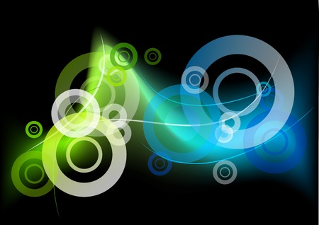 green and blue neon light Vector