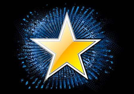 gouden ster: gouden ster op de zwarte achtergrond
