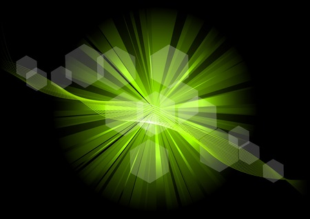 green explosive on the black Stock Vector - 8562165