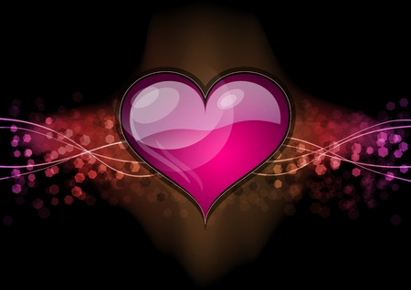 heart on the dark background Vector