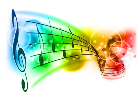 yellow note: music background with color note