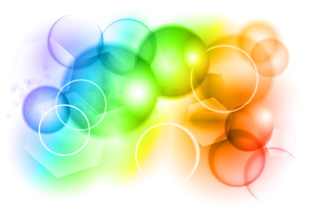 bąbelkowy abstrakcyjna tła w kolorach tęczy Ilustracje wektorowe