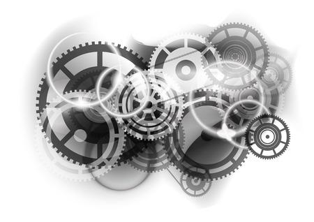 cogwheel: Grey abstract background with cogwheel