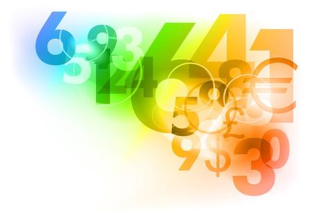 rekensommen: Nummers op de abstracte achtergrond