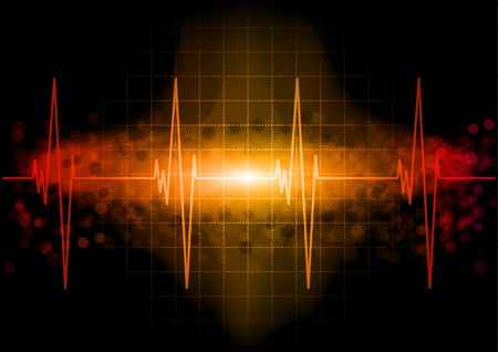 Heart beat monitor in the dark Stock Vector - 9113359