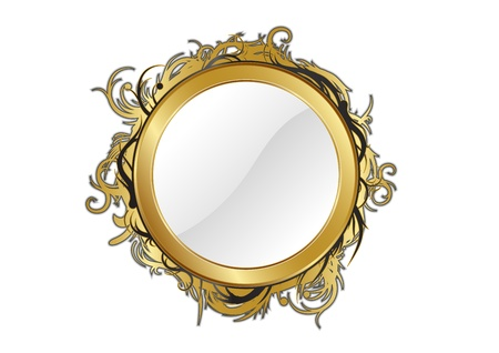 gold mirror isolated for any background Stock Vector - 9113355