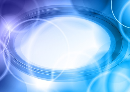 blue and cold rounded background