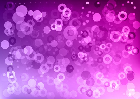 purple abstract background with circles Vector