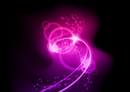 purple spiral on the black background Stock Vector - 9293731
