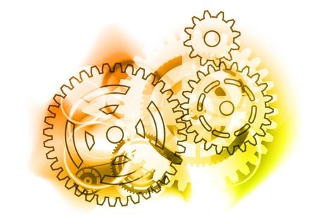 cogwheels on the industrial background Vector