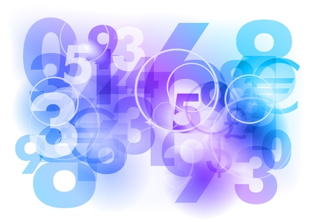 education concept: numbers background as blue abstract