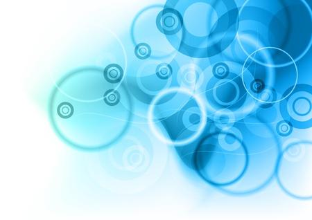 cold background: Sfondo blu con cerchi astratte