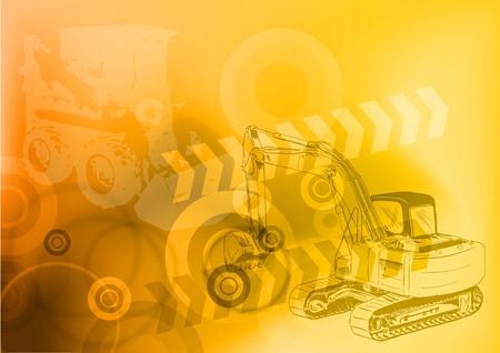 maquinaria: Fondo de construcci�n en color naranja