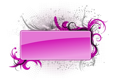 purple banner with silhouettes of ornaments Stock Vector - 9414414