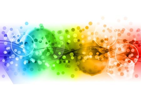 arcobaleno astratto: arcobaleno astratto backgroud su bianco