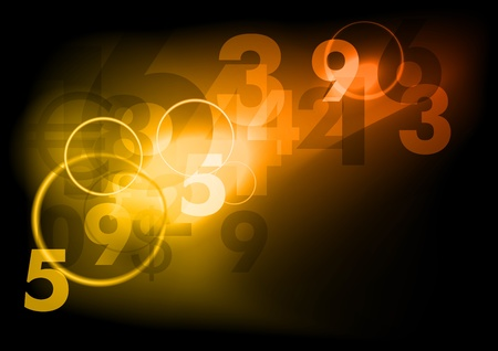 business dark background with numbers Stock Vector - 9457159