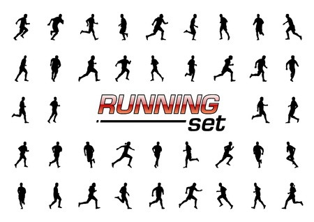 running set isolated on the white Vector