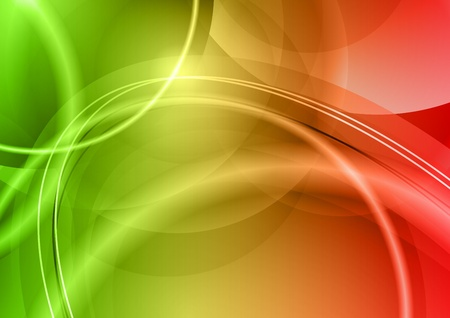 red and green abstract background Stock Vector - 9457174
