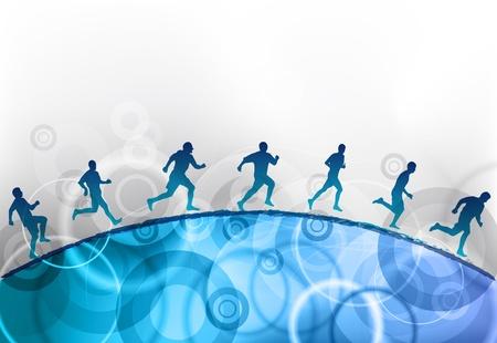 aerobic training: runnin on the blue hill Illustration