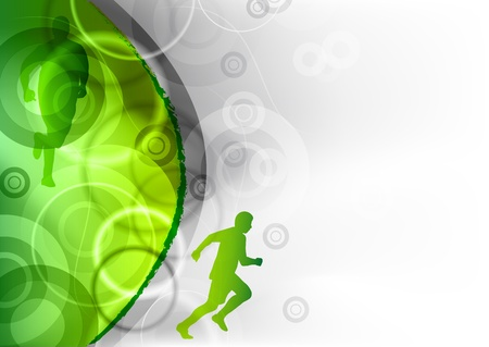 strong symbol: green background with the runner