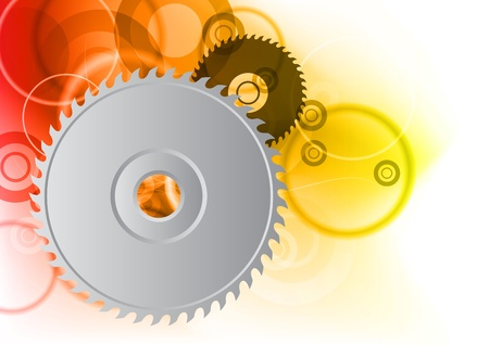 blades: circular on the orange background