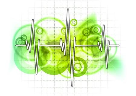 sismogr�fo: gr�fico sobre la cuadr�cula verde