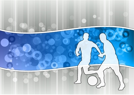 white soccer players on the blue wave Vector