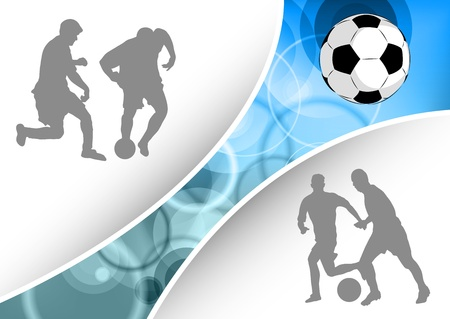 silhouettes of the football players Vector