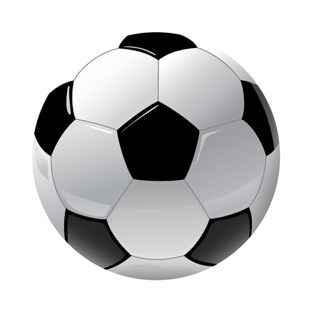 ball game: foot ball isolated on the white Illustration