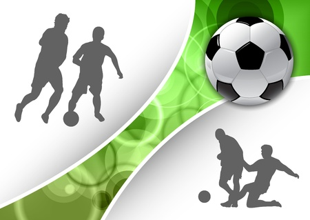 bootball symbols with green line Illustration