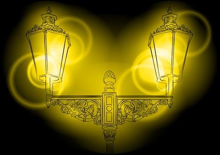 shining lamp on the dark Stock Vector - 9713606