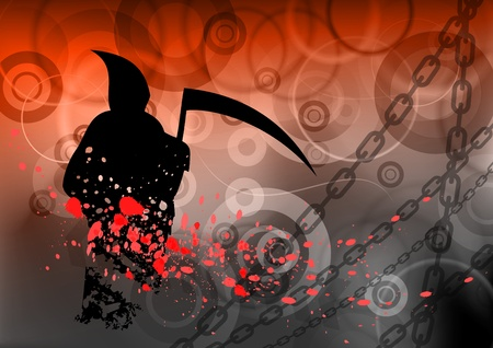 red dark background with reaper Vector