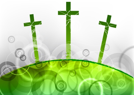 golgotha: holly hill on the green Illustration