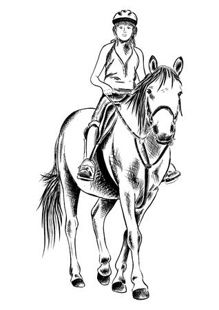 giovane ragazza sul cavallo