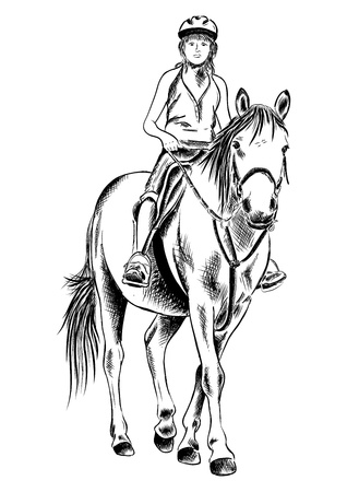 niña en el caballo