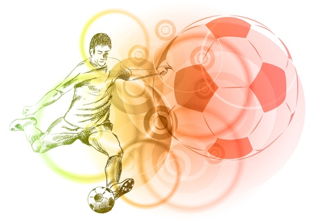 football player on the light background Illustration
