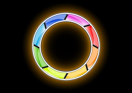 rainbow ring on the black background Vector