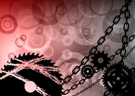 industrial background with the chain Vector
