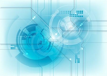 La technologie de fond abstraite en bleu Banque d'images - 10317368