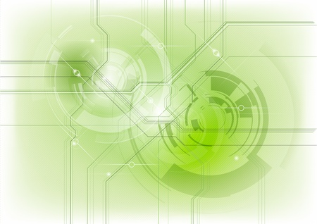 tech background in the green Vector