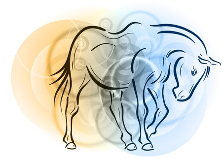 horse on the abstract background Stock Vector - 10844753