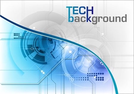 tech background: tech background in the blue Illustration