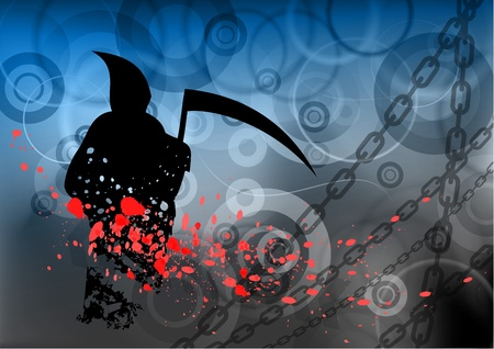 halloween reaper on the background Vector