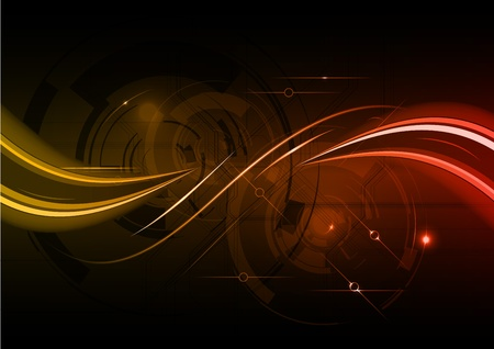dark red wave abstract background Vector